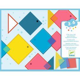 Des carrés magiques - créer avec des gommettes repositionnables