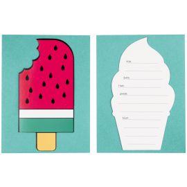 8 invitations - ice cream