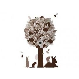 sticker mural 'arbre' taupe - Fabric Friends