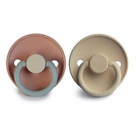 Set de 2 tétines en silicone Color - Queen/sandstone