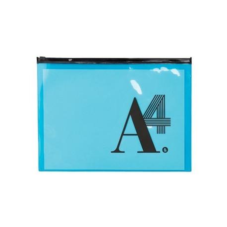 pochette transparente zippée A4
