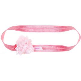 bandeau à cheveux rose extensible 'Mimi'