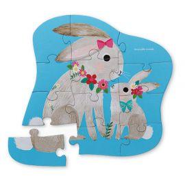 12 pc puzzle lapin