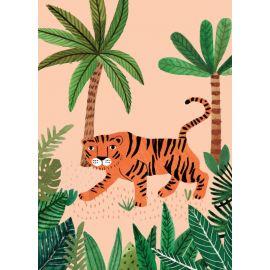 carte postale tigre de la savane